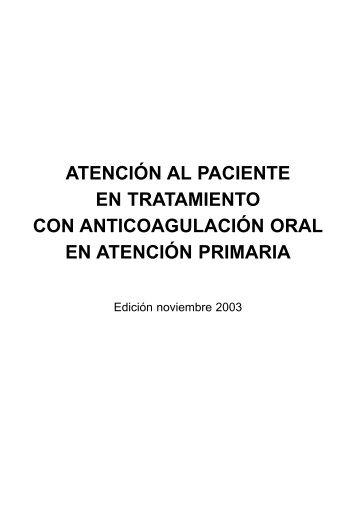 AtenciÓn Al Paciente En Tratamiento Con AnticoagulaciÓn