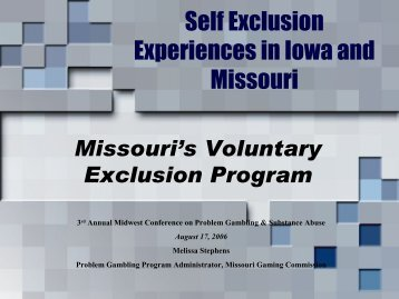 Self Exclusion in Iowa and Missouri - 1-888-betsoff