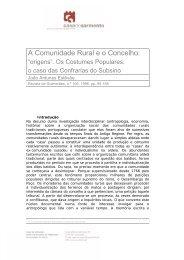 A Comunidade Rural e o Concelho: - Casa de Sarmento