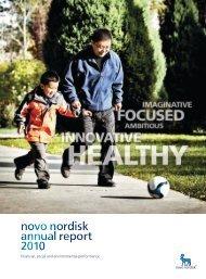Novo Nordisk - Annual Report 2010 - Sustainable Development ...