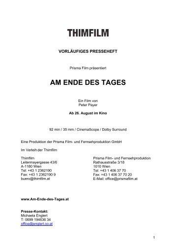 AM ENDE DES TAGES - Austrianfilm