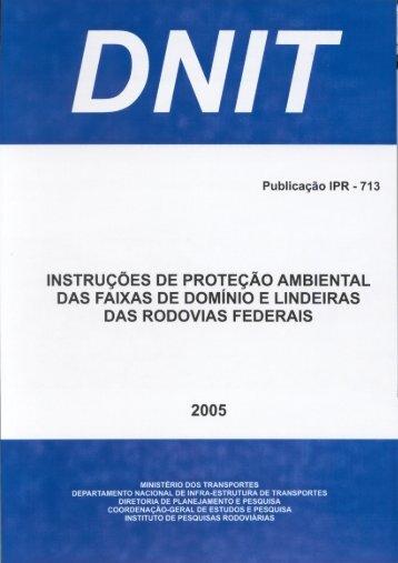 instruções de proteção ambiental das faixas de domínio ... - IPR - Dnit