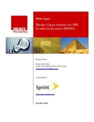 Market Opportunities for B2B Fourth-Generation MVNOs - Sprint ...