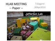 HLAB MEETING -- Paper --