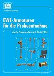 EWE-Armaturen für die Probeentnahme