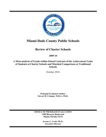 Office of Program Evaluation - Miami-Dade County Public Schools