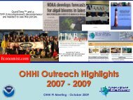 OHHI Outreach Highlights from 07-09 - The Oceans and Human ...