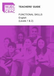 FS English L1&2 Teachers' Guide - WJEC