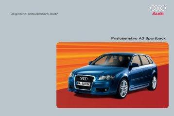 Príslušenstvo A3 Sportback - Audi