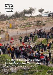 B'Tselem, The Right to Demonstrate in the Occupied Territories ...