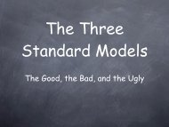 The Good, the Bad, and the Ugly - G-2 group