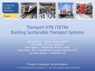 Transport KTN (TKTN) Building Sustainable Transport ... - Innovate 10