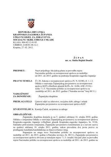 Nacrt prijedloga Akcijskog plana za provedbu mjera Nacionalne ...