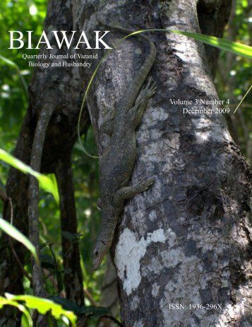 Biawak, 3(4) - International Varanid Interest Group