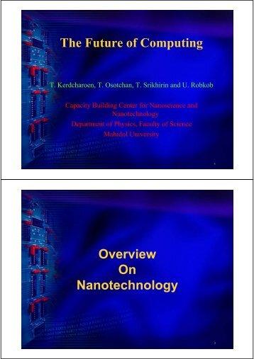 The Future of Computing - Nano Mahidol - Mahidol University