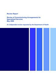 Review of Commissioning Arrangements for Specialised Services ...