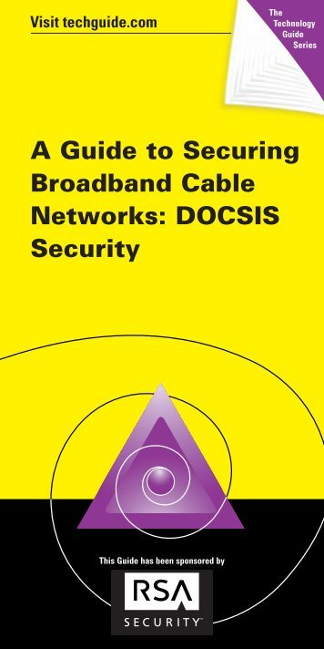 A Guide to Securing Broadband Cable Networks ... - Recursos VoIP