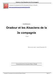 Oradour et les Alsaciens de la 3e compagnie - Malgré-Nous