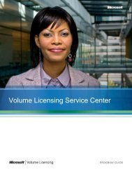 Program Guide for Microsoft Volume Licensing Center
