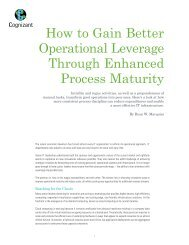 How to Gain Better Operational Leverage Through ... - Cognizant
