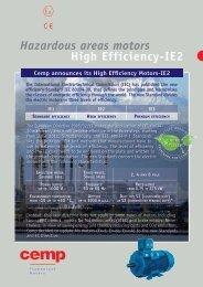 Hazardous areas motors High Efficiency-IE2 - CEMP