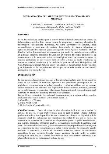 1 CONTAMINACIÓN DEL AIRE POR FUENTES ... - LIDeCC
