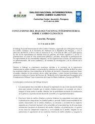 dialogo nacional interministerial sobre cambio ... - UNDPCC.org