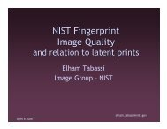 NIST Fingerprint Image Quality - NIST Visual Image Processing Group