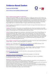 Evidence-Based Zoeken - Dutch Cochrane Centre
