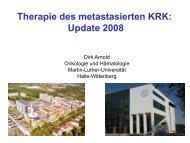 Therapie des metastasierten KRK: Update 2008