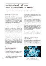 Innovation dans les substrats : apport de ... - Jejardine.org