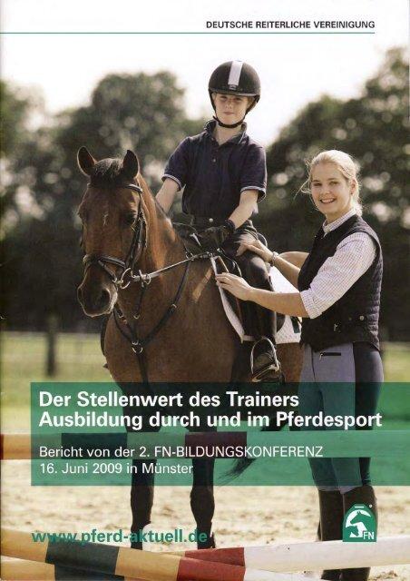 Stellenwert des Trainers - Reiterring Badische Pfalz eV