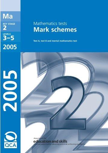 Mark schemes 2005 - Emaths