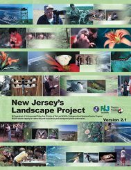 New Jersey's Landscape Project - State of New Jersey