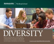The Broad School - MSU Full-Time MBA - Michigan State University