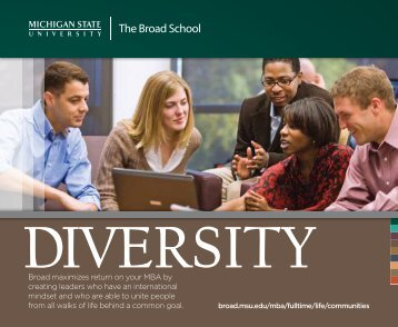 The Broad School - MSU Full-Time MBA - Michigan State University