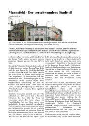Mannsfeld - Der verschwundene Stadtteil