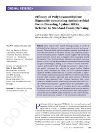 Efficacy of Polyhexamethylene Biguanide-containing ... - Wounds