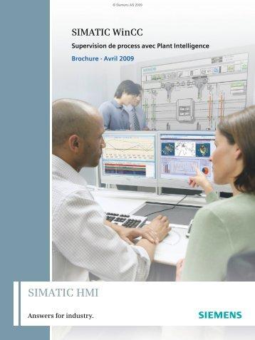 SIMATIC WinCC – Supervision de process avec ... - Manufacturing.fr