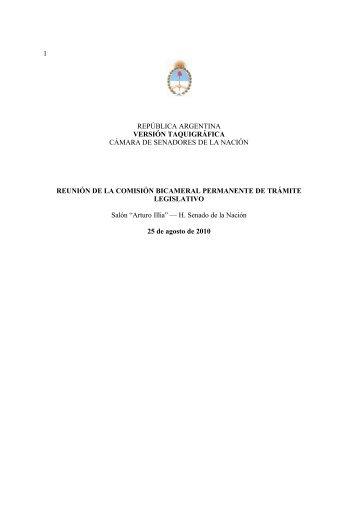 1 república argentina versión taquigráfica cámara de senadores de ...