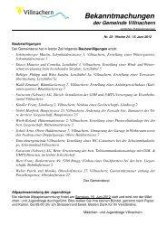 Nr. 23 / Woche 24 / 15. Juni 2012 - Gemeinde Villnachern