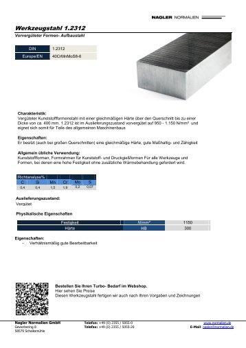 Werkzeugstahl 1.2312 - Nagler Normalien GmbH