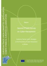 Second ETUCE Survey on Cyber-Harassment - Teachers ...