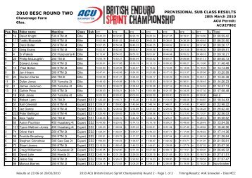 Round 2 - Enduro-Sprint