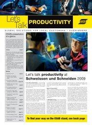 Lets Talk Productivity - Esab