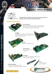 Accessoires - Onduleurs E6 LCD RT - Technopointe