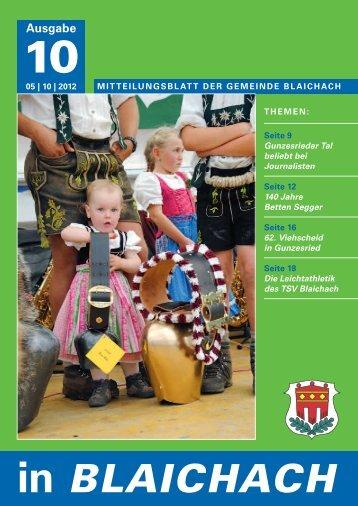 VereInsnACHrICHten - Gemeindeverwaltung Blaichach im Allgäu ...