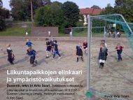 Liikuntapaikkojen elinkaari ja ympäristövaikutukset - Ski Sport ...
