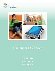 Online Marketing for Tourism - Small Business BC