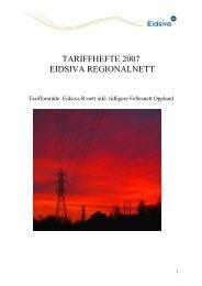 Tariffhefte 2007 - Eidsiva Nett AS